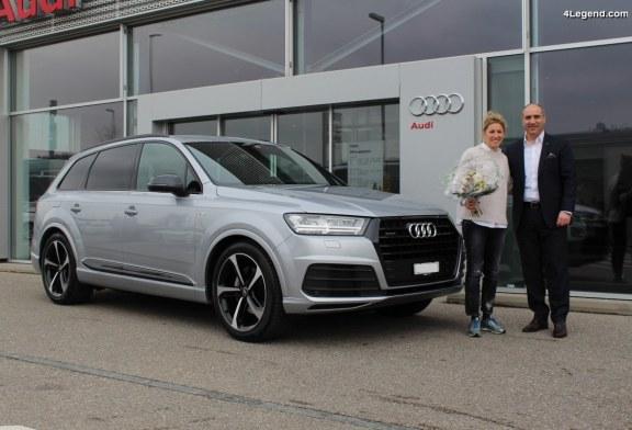 Livraison en Suisse des nouvelles voitures des pilotes Audi Rahel Frey et Marcel Fässler
