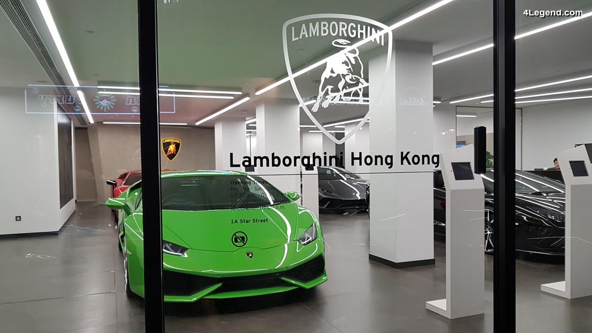 Visite exclusive du nouveau showroom Lamborghini Hong Kong