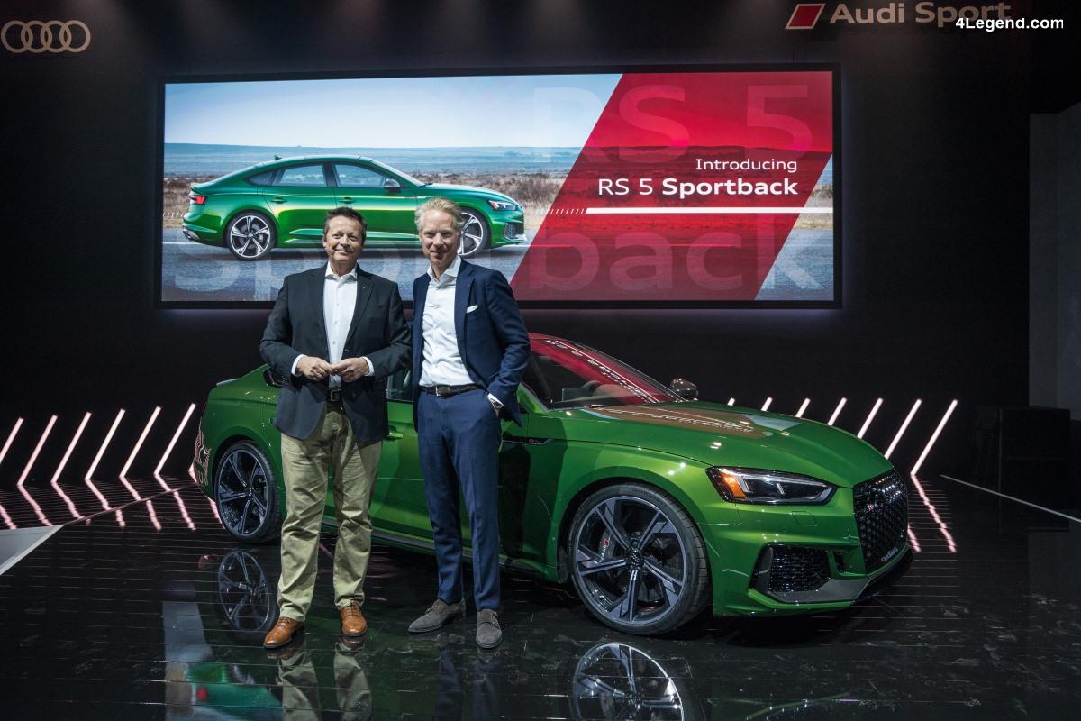 NYIAS 2018 - Le plein de nouveautés Audi à New York dont la nouvelle Audi RS 5 Sportback