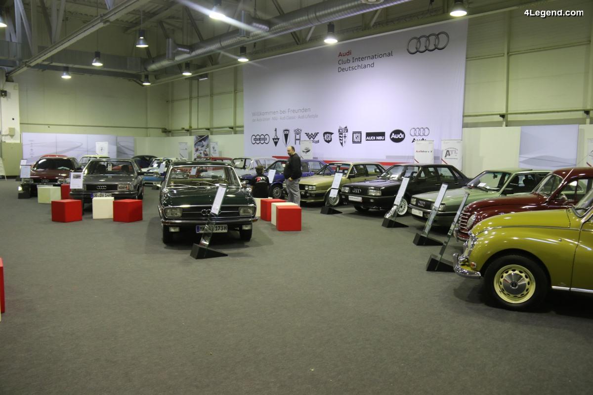 TCE 2018 - Exposition de nombreuses Audi, Auto Union, DKW et NSU sur le stand de l'Audi Club International