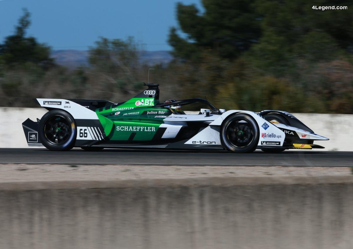 Formule E - Essais de la nouvelle Audi e-tron FE05 avec Daniel Abt au volant à Calafat