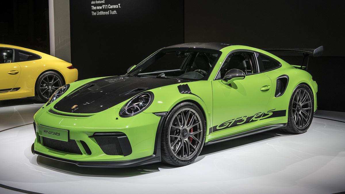 NYIAS 2018 - Nouveau Pack Weissach pour la Porsche 911 GT3 RS - Un gain de 18 kg grâce au carbone
