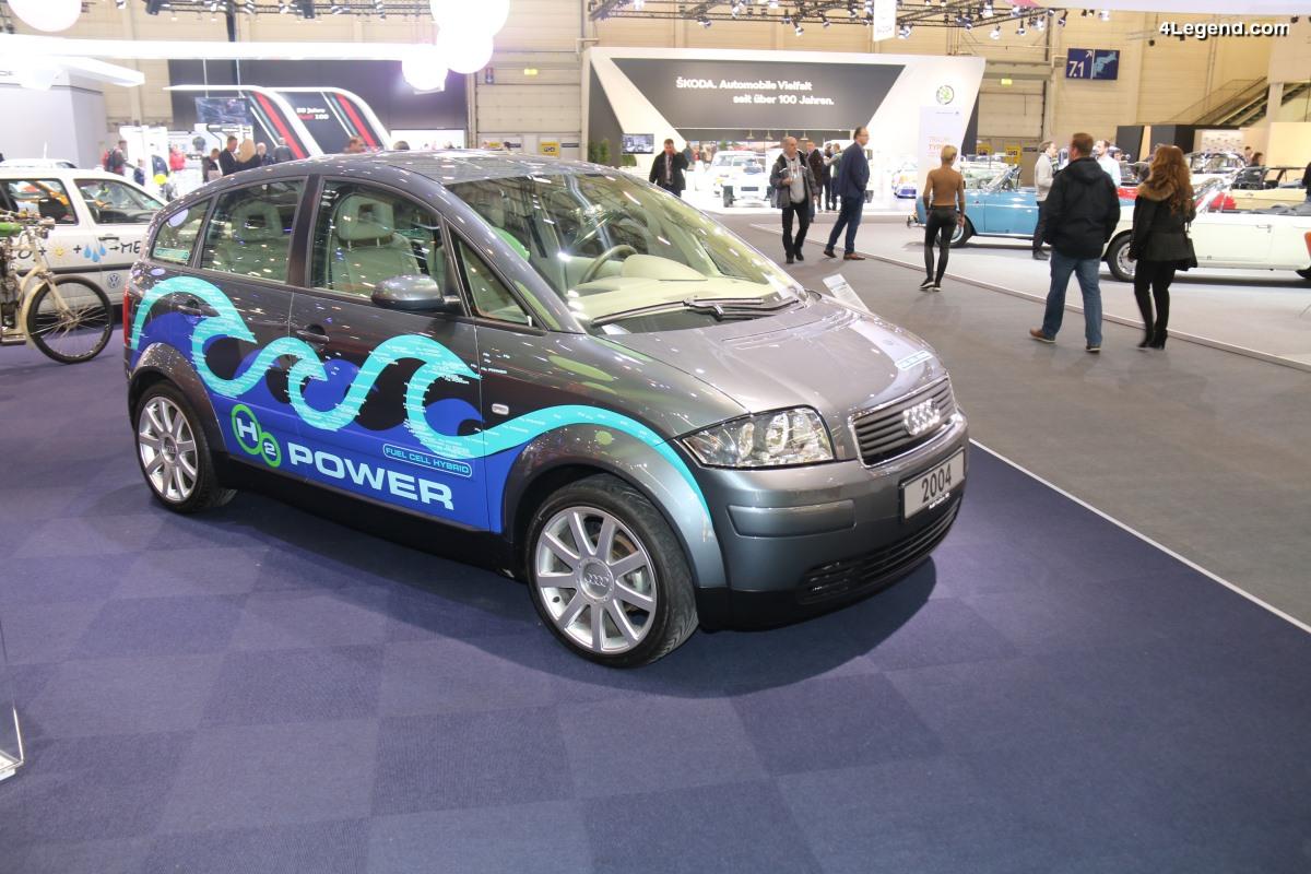 Audi A2H2 concept de 2004 : une voiture hybride à Hydrogène à la fois durable et sportive