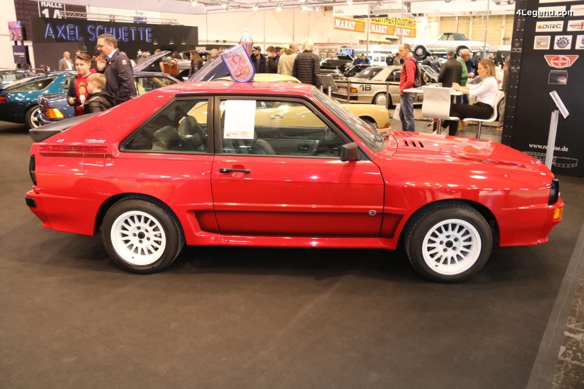 TCE 2018 - Rare Audi Sport quattro rouge Tornado de 1985