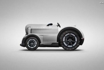 Tracteur Porsche Mission E – Le poisson d'avril 2018 signé Porsche