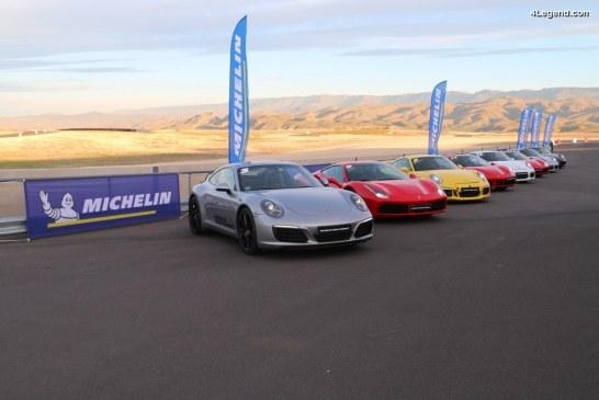Essai sur circuit de la nouvelle solution de pneu connecté Michelin Track Connect sur Porsche 911 GT3 et Ferrari 488 GTB