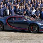 Le centième exemplaire de la Chiron sort de l'atelier Bugatti