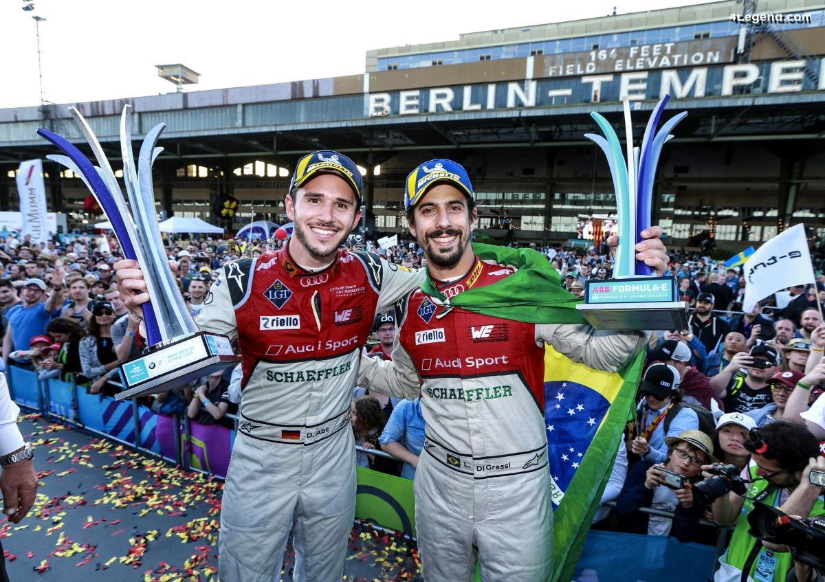Formule E - Un superbe doublé d'Audi à Berlin grâce à Daniel Abt et Lucas di Grassi