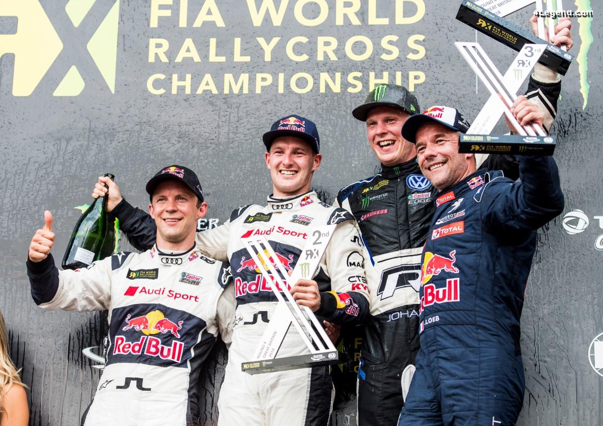 World RX - Premier podium pour le pilote EKS Audi Sport - Andreas Bakkerud - à Silverstone