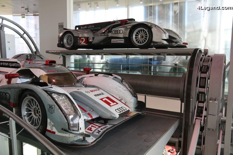 superbe exposition l audi museum mobile des voitures de course audi victorieuses aux 24 heures. Black Bedroom Furniture Sets. Home Design Ideas