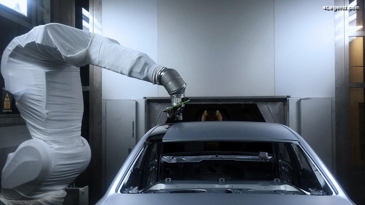 Audi teste une nouvelle méthode de pulvérisation de peinture contrastante