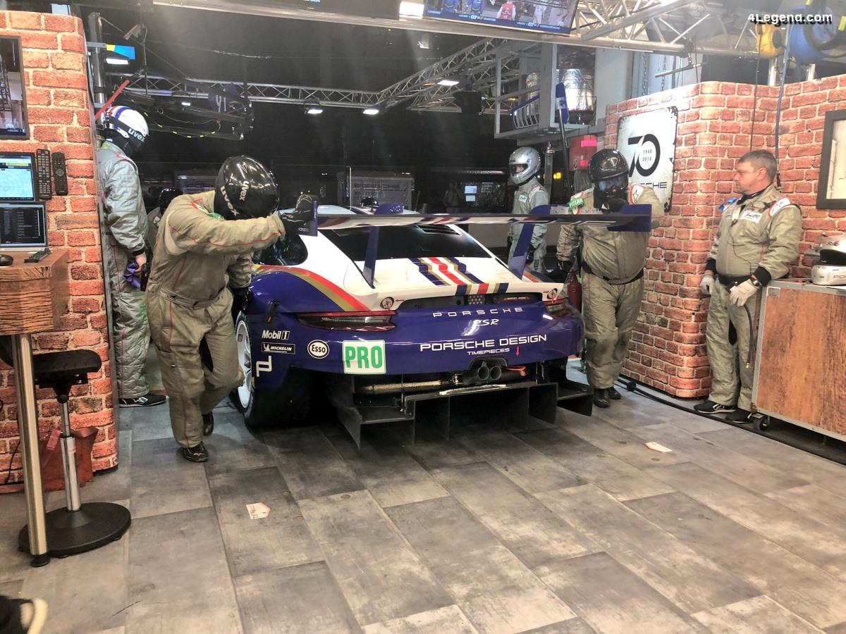 24h Le Mans 2018 - Stand Porsche GT Team à la décoration vintage