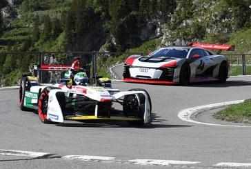 Audi e-tron FE04 & Audi e-tron Vision Gran Turismo en balade en montagne