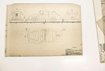 Une collection de dessins techniques Porsche amassés au fil du temps réunis à Weissach