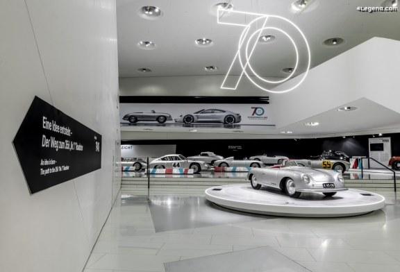 Exposition spéciale «70 ans de voitures de sport Porsche» au Porsche Museum