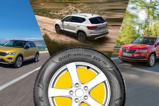 Le pneu Giti GitiPremium SUV PX1 homologué en première monte sur 3 SUV du Groupe Volkswagen