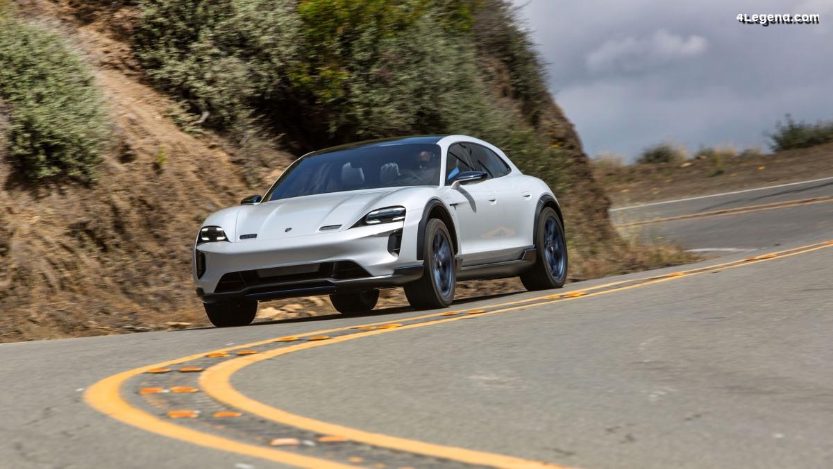 Porsche a fait essayer à des journalistes la Mission E Cross Turismo en Californie