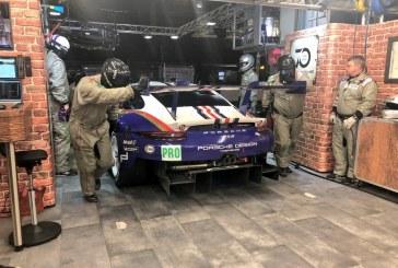 24h Le Mans 2018 – Stand Porsche GT Team à la décoration vintage