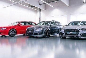 Présentation de 3 générations d'Audi A4/RS 4 préparées par ABT dans la lignée du RS 4