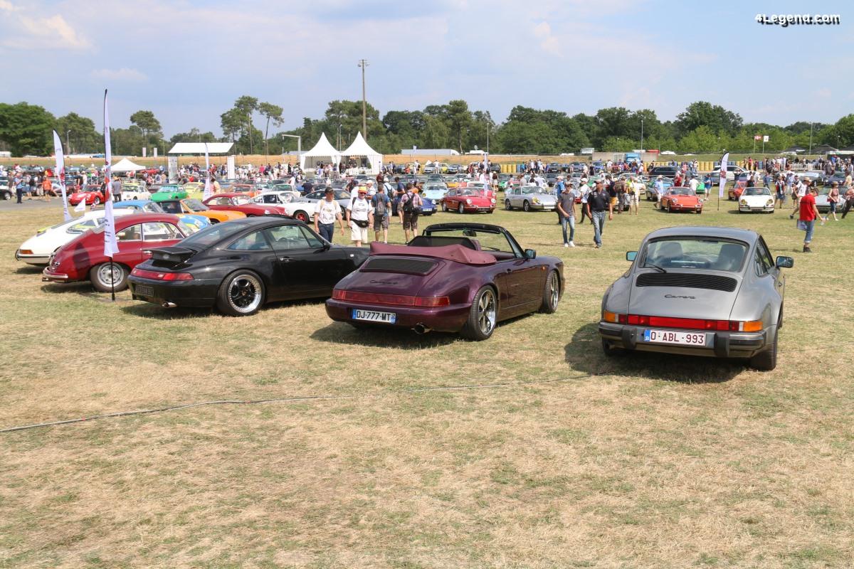 Le Mans Classic 2018 - Exposition de près de 1 000 Porsche sur le stand de la Fédération des Clubs Porsche