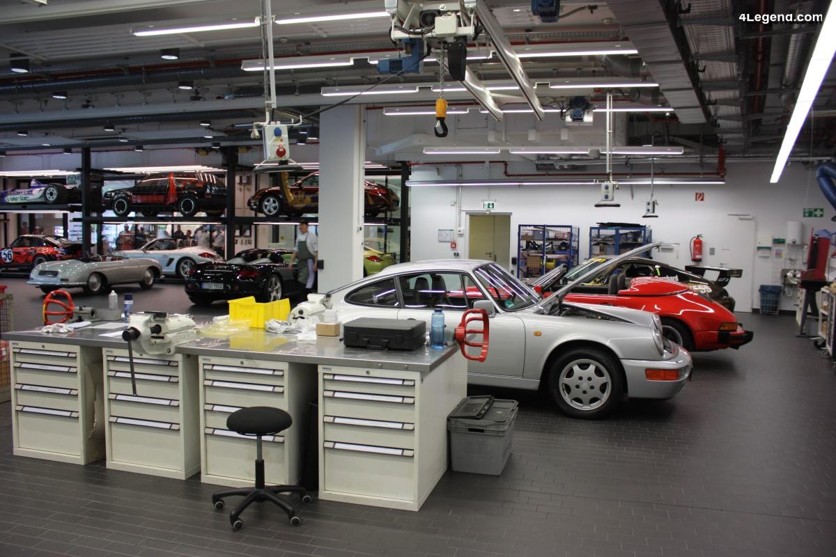 Atelier Porsche classic au sein du Porsche Museum - Entretien et réparation des Porsche historiques