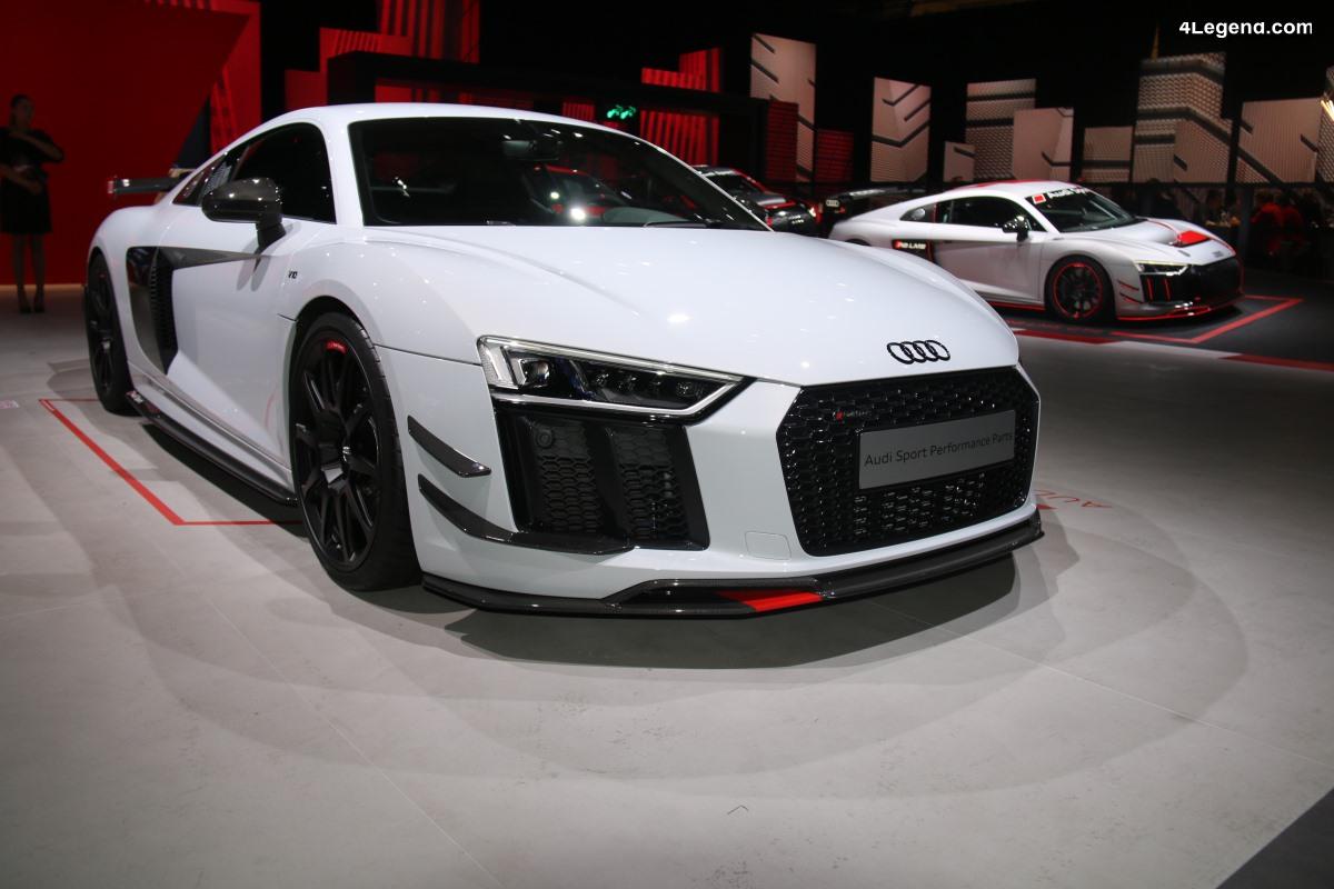Détails des pièces Audi Sport performance parts pour Audi R8 V10 Coupé