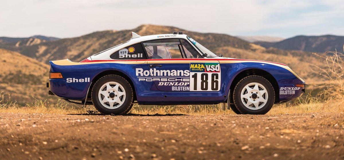 L'une des 3 Porsche 959 Paris-Dakar de 1985 mise en vente aux enchères