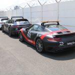 Présentation des voitures de sécurité et d'intervention Porsche des 24 Heures du Mans 2018