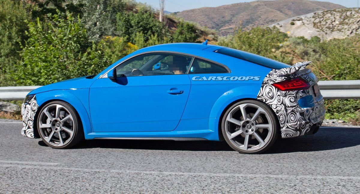 Spyshots Audi TT RS 2019 - Léger restylage avec l'apparition de nouvelles pièces en carbone