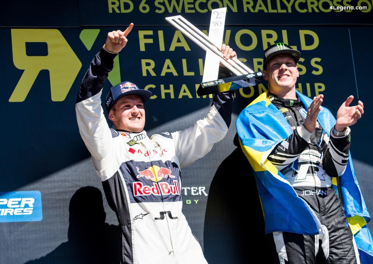 World RX - Une deuxième place sur le podium pour le pilote Audi Andreas Bakkerud à Höljes