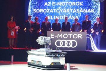 Audi Hungaria débute la production en série de moteurs électriques