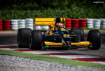 26 ans après, la F1 Minardi 191B avec moteur V12 Lamborghini retourne sur la piste