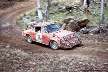 Trois Porsche 911 S engagées dans le Rallye London-Sydney Marathon 1968