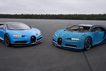Une Bugatti Chiron construite en LEGO Technic à l'échelle 1:1 roulant à 20 km/h