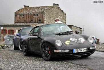 Road-trip Porsche croisé au col de l'Iseran