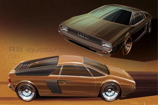 Design de l'Audi R8 quattro dans les années 1980