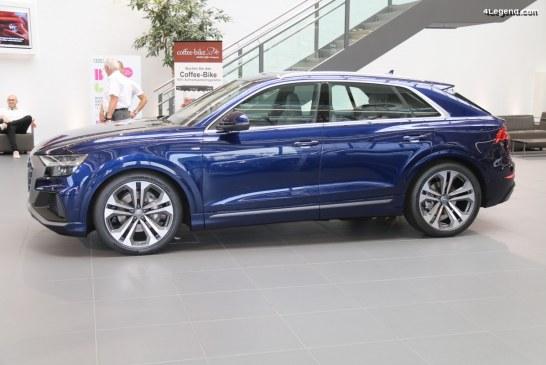 Ouverture des commandes de l'Audi Q8