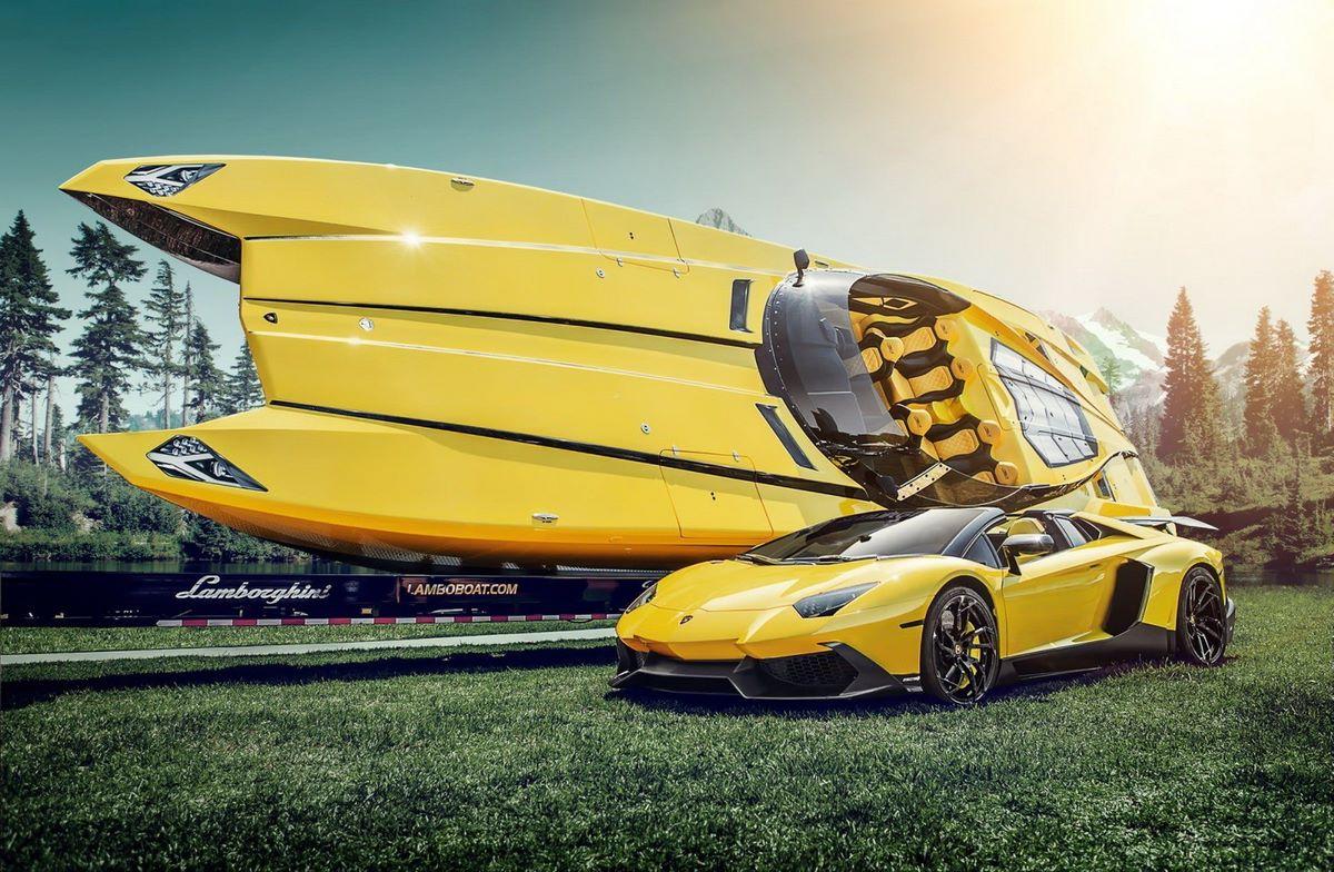 Aventaboat - Un bateau de course MTI G6 48 à la sauce Lamborghini Aventador Roadster 50° Anniversario
