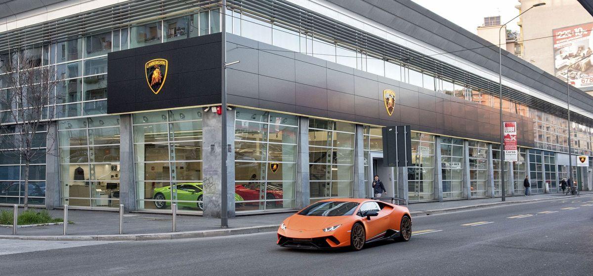 Un nouveau showroom Lamborghini à Milan