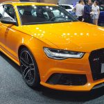 Modèles Audi S, RS et R8 Spyder colorés au Chengdu Motor Show 2018