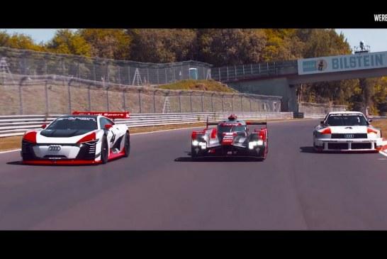 Audi Vision GT, R18 e-tron & 90 quattro IMSA GTO sur le Nürburgring – Nordschleife