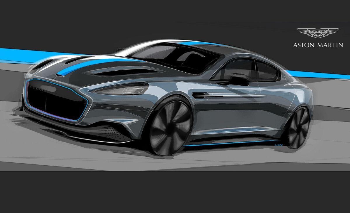 Des pneus Pirelli P Zero spécialement développés pour l'Aston Martin Rapide E