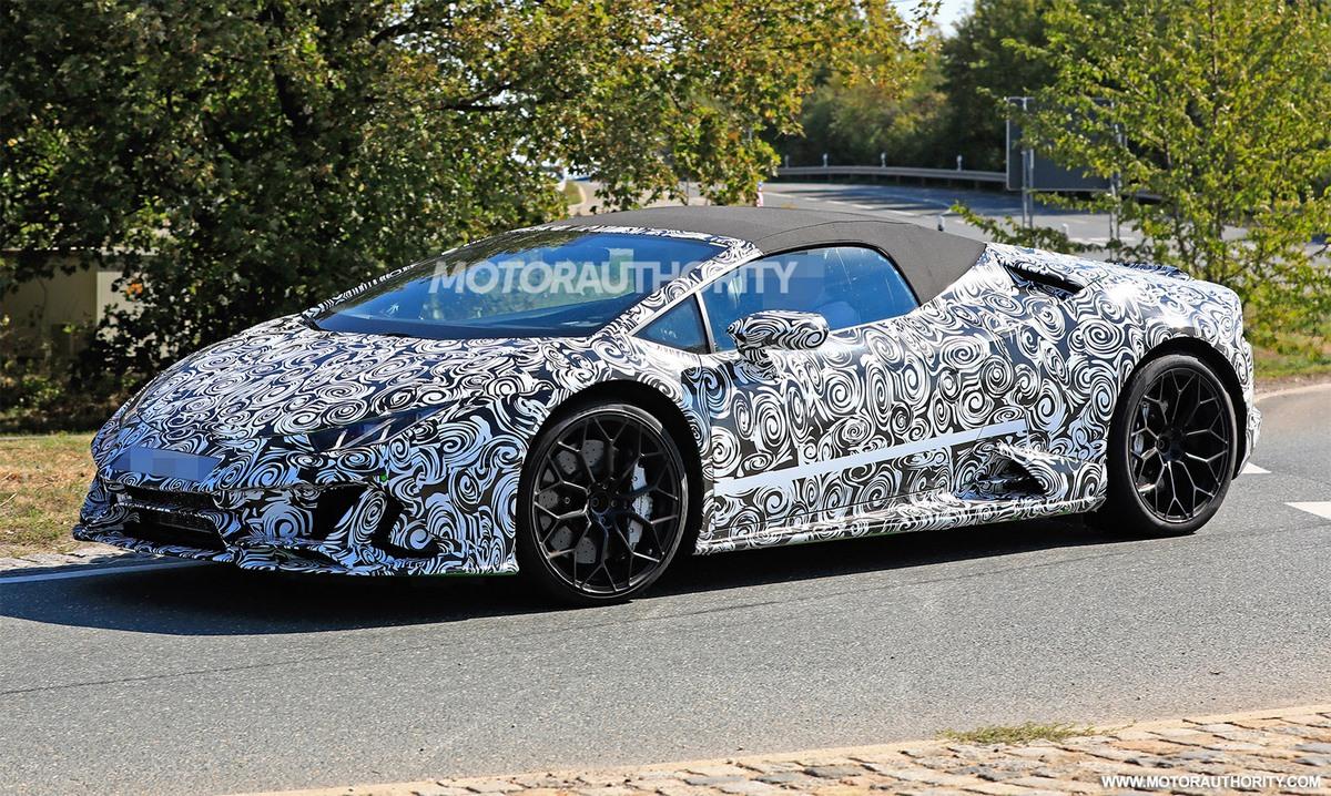 Spyshots Lamborghini Huracán Spyder restylée