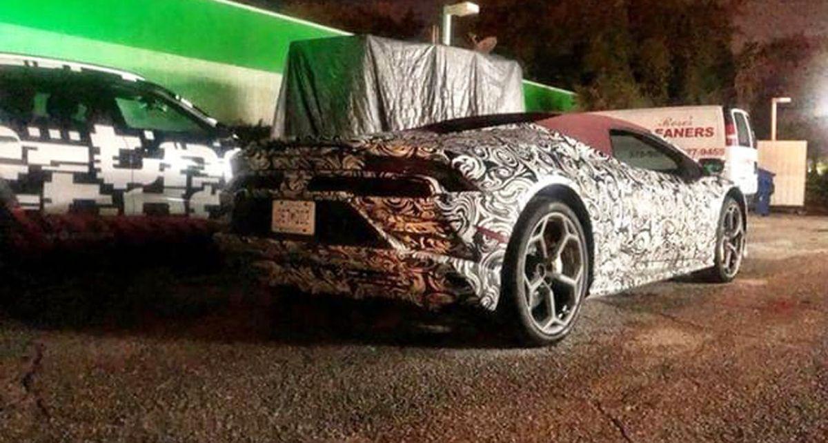 Spyshots Lamborghini Huracán Spyder restylée - extérieur et intérieur