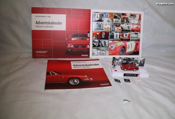 Calendrier de l'Avant Porsche avec une miniature sonore de 911 à monter – Edition Franzis