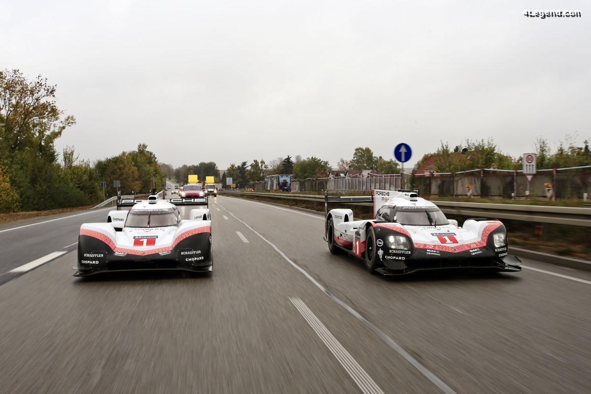 Derniers tours de roues de la Porsche 919 Hybrid de Weissach au Porsche Museum