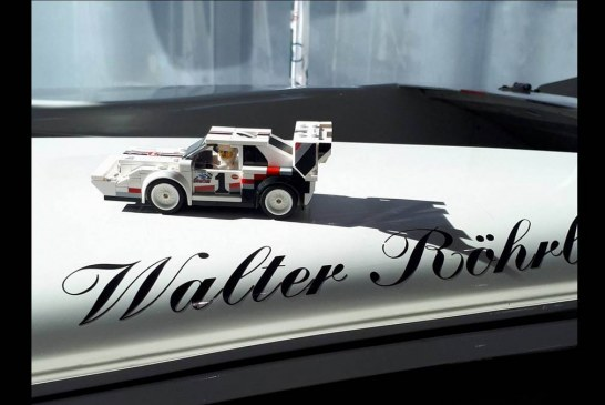 Audi S1 quattro Pikes Peak en LEGO vs la vraie à Ingolstadt