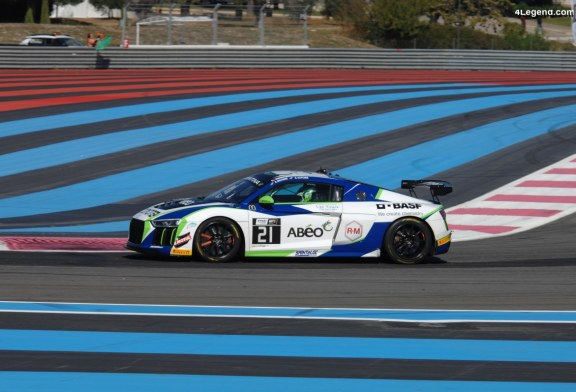 Victoire du championnat GT4 de l'Audi R8 LMS GT4 #42 de Saintéloc Racing lors de la finale au Castellet