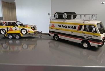 Miniatures pack Rallye Portugal HB Audi Team 1986 par Ottomobile au 1:18