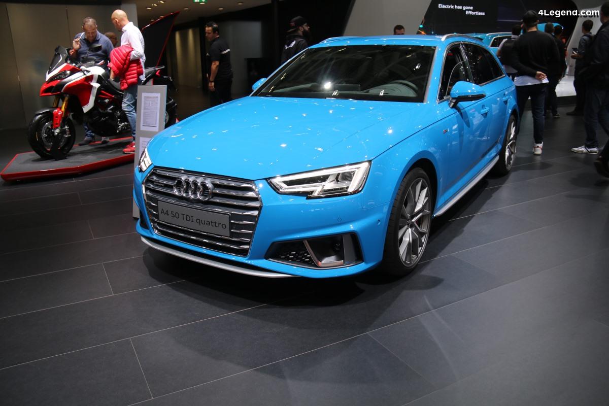 Paris 2018 - Nouvelle Audi A4 restylée dévoilée très discrètement